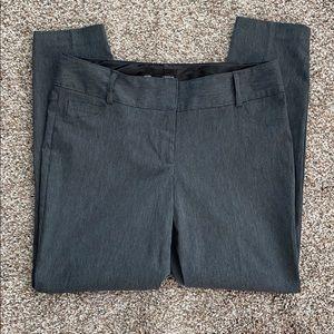 Gray tapered leg dress pants